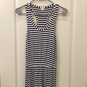 J. Crew Racerback Striped Maxi Dress